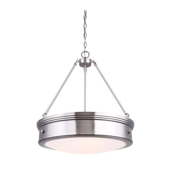 Canarm Boku 4 Light Chandelier with Flat Opal Glass - Oil Rubbed Bronze Finish...... -  - kitchen-dining-room-decor, kitchen-dining-room, chandeliers-lighting - 319kg8EpoxL. SS570  -