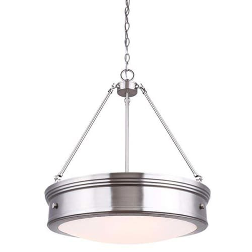 319kg8EpoxL - Canarm Boku 4 Light Chandelier with Flat Opal Glass - Oil Rubbed Bronze Finish……