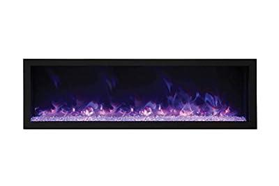 Amantii BI-72-DEEP-XT Indoor/Outdoor Built-In Electric Fireplace, 72-Inch