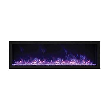 Amantii BI-72-DEEP-XT Indoor/Outdoor Built-In Electric Fireplace, 72