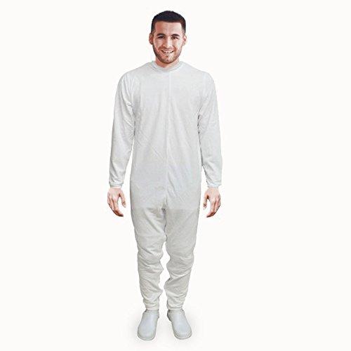 Pijama antipañal de sarga (verano) manga y pierna larga | Talla M: Amazon.es: Hogar