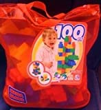 : MEGA BLOCKS HUGE 100 PIECE PRIMARY COLORS IN REUSABLE MESH BAG EXCLUSIVE