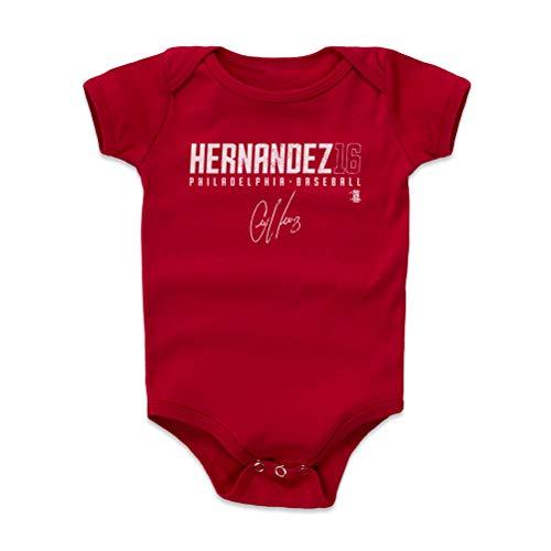500 LEVEL Philadelphia Baseball Baby Clothes, Onesie, Creeper, Bodysuit - 18-24 Months Red - Cesar Hernandez Hernandez16 R WHT