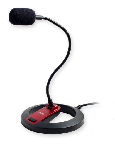 - PC Goose Neck Microphone, Computer Microphone With Mute Switch and Stand, Plug And Play 3.5mm Microphone For Desktop/Laptop/iPad/Tablet