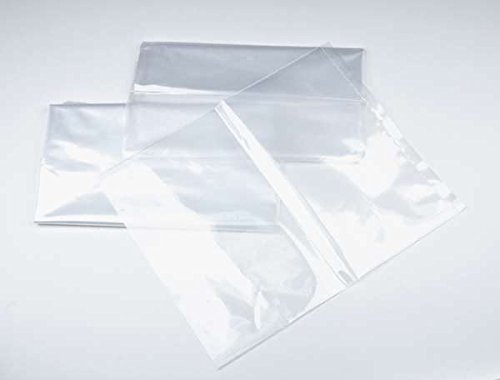"20"" x 40"" 1 mil. - Clear Plastic Flat Open Poly Bag - Extra Strength (100 Pack) 