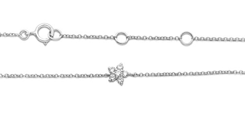 Miore - Bracelet extensible - Or blanc 9 cts - Diamant 0.1 cts - 18 cm - MY019B