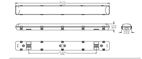 Kason LED Light Fixture - 4ft - Freezer Rated - Kason 1810LC - 1810LC4000