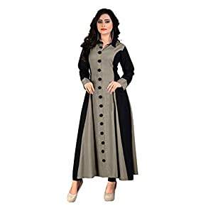 any kids Women's Rayon Regular Kurta