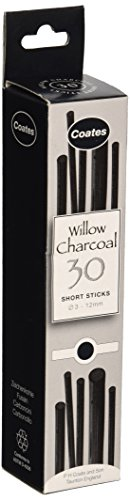 Sticks Charcoal (Global Art Materials Coates Assorted Artist Willow Charcoal (30 Sticks), Black)