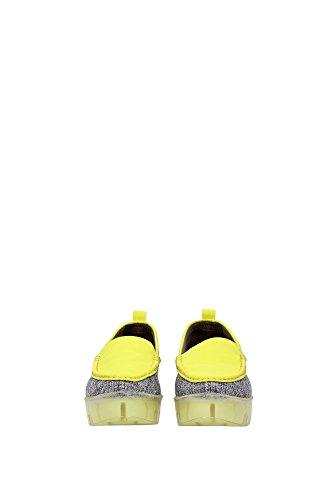 stefania , Damen Mokassins Gelb grigio e giallo
