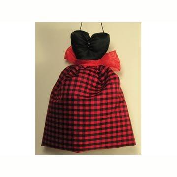 - Mini Gown Sachet - Black Red Plaid