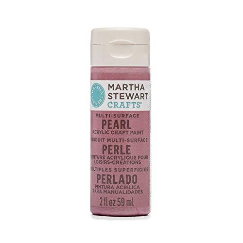 (Martha Stewart Crafts Multi-Surface Pearl Acrylic Craft Paint in Assorted Colors (2-Ounce), 32117 Pink Taffeta)