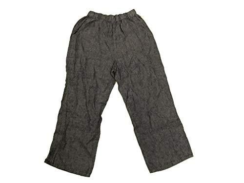 Flax Women's 100% Linen Crop Capri Pants Pull On Small Blue
