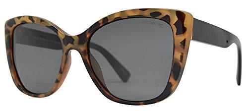 Be One Women Cat Eye Sunglasses in Leopard Frame with Smoke Lens (In Cat Eye Sun Glasses)