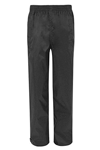 Mountain Warehouse Pakka Mens Rain Pants - Waterproof Overpants Black Large (Best Waterproof Mountain Bike Trousers)