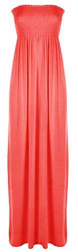 Women's Sheering Bandeau Boob tube Gather Strapless Summer Maxi Dress (ML, (Gather Tube Top)