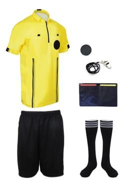 NEW! 2018 Pro Soccer Referee Package (7 Piece) (Yellow, Adult Medium) ()