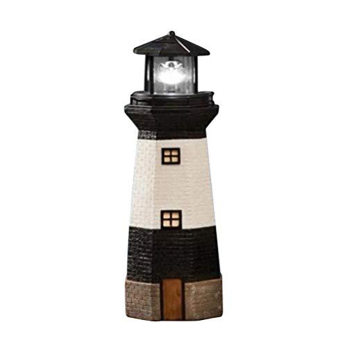 Uonlytech Solar Lighthouse Lamp Decorative Landscape Light for Garden Yard Decoration(Random Color)