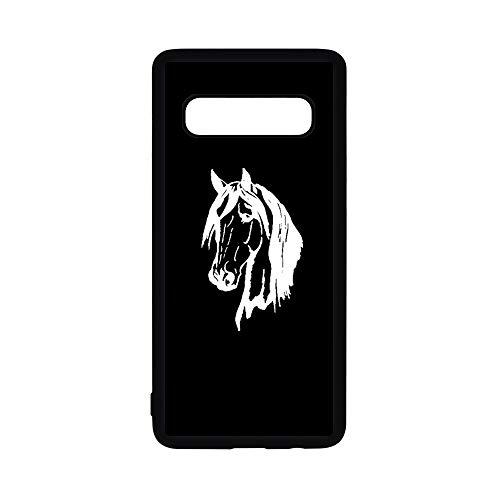 - Slim Rubber Skin Phone Case for Samsung Galaxy S10e by InfoposUSA Horse Head Silhouette