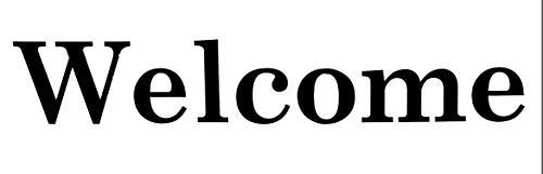 Custom Vinyl Welcome Decal - Glass Door Sticker, Windows, Walls - Vinyl Lettering,Traditional Decor