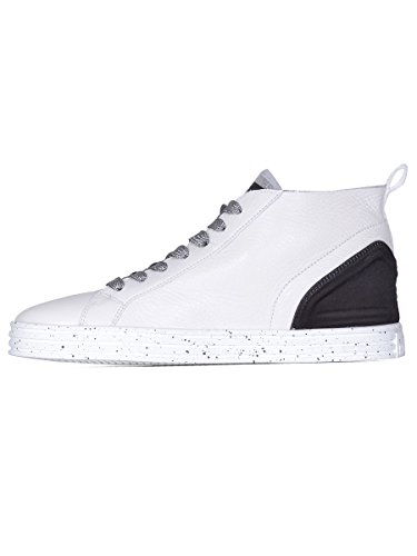 Hogan Rebel Hi Top Sneakers Donna HXW1820X420FTC0351 Pelle Bianco