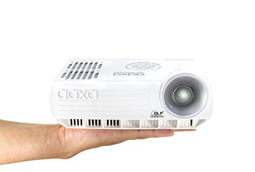 AAXA M4 Mobile LED Projector with 90 Minute Battery Life, WXGA 1280×800 Resolution, 800 Lumens, DTV Onboard, 20,000 Hour LED
