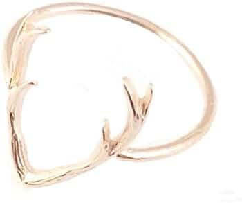 Alanna Antler Ring Rose Gold