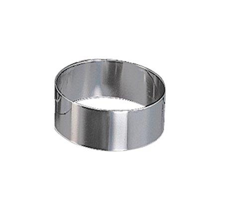 /Sun /Ø 16,5 Passe au Lave-Vaisselle 32/cm sans poign/ée/ Anneau de Tarte en acier inoxydable flexible hauteur: 7/cm r/églable en continu