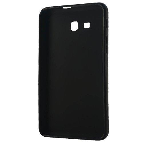 LK X Design Slim TPU Gel Rubber Soft Skin Case Cover for Samsung Galaxy Tab 3 Lite 7.0 T110 / T111 & Free Stylus Pen + Screen Protector (Galaxy Tab 3 Lite 7.0, Black)