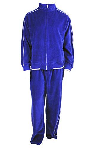 (Electric Blue Mens Velour Sweatsuit, X-Large, Royal Blue)