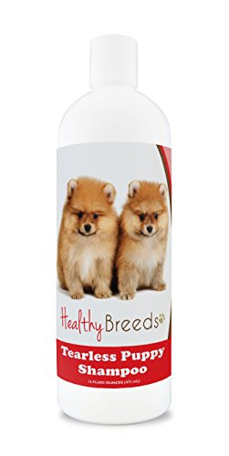 Healthy Breeds Puppy Shampoo for Sensitive Skin for Pomeranian - OVER 100 BREEDS - Nourishes & Moisturizes for Growth - Safe with Flea and Tick Topicals - 16 oz