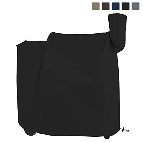 COVERS & ALL Pellet Grill Cover 12 Oz Waterproof - 100% UV & Weather Resistant Charcoal Grill Cover with Air Pockets and Drawstring for Snug Fit (41 W x 27 - Smoker Brinkman Pellet