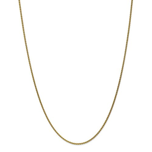 10k Yellow Gold 1.65mm Solid Polished Spiga Chain Necklace 24