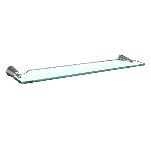MAYKKE Soma Glass Shelf for Bathroom or Kitchen, Brushed ...