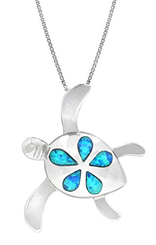 Sterling Plumeria Simulated Necklace Pendant