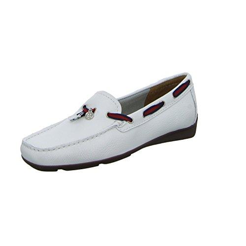 BOXX 35308 Damen Slipper Halbschuh Casual Weiß (Weiß)
