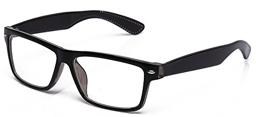 Squared Fashion Flat Thick Frame Geek Nerd Costume Pair Fashion Clear Glasses -