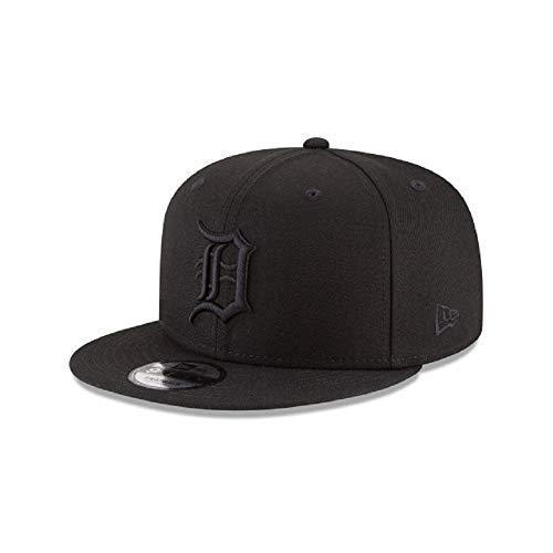 New Era Detroit Tigers MLB Basic Snapback Black on Black 950 Adjustable Cap