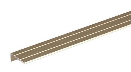 GAH-Alberts 490256 - Perfil protector para escalones (adhesivo, aluminio)