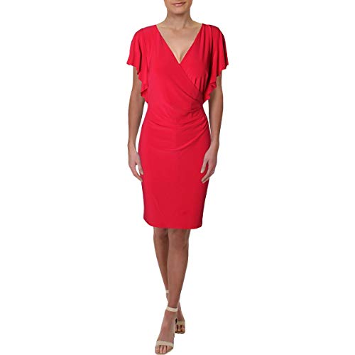 Lauren by Ralph Lauren Women's Kahlo Matte Jersey Dress Pink Poppy 10 ()