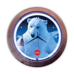 Coca Cola Polar Bear Neon Clock