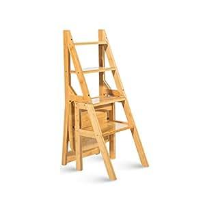 Escaleras plegables Taburete multifuncional para el hogar ...