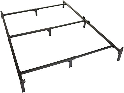 Amazon Basics 9-Leg Support Bed Frame – Strong Support for Box Spring and Mattress Set – King