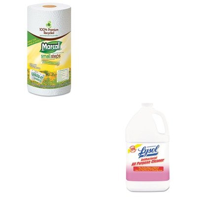 KITMRC6183RAC74392 - Value Kit - Marcal Small Steps 100% Recycled Roll Towels (MRC6183) and Professional LYSOL Antibacterial All-Purpose Cleaner (RAC74392)