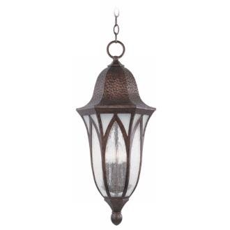 Berkshire 11'' Wall Lantern in Burnished Antique Copper with Clear by Designers Fountain