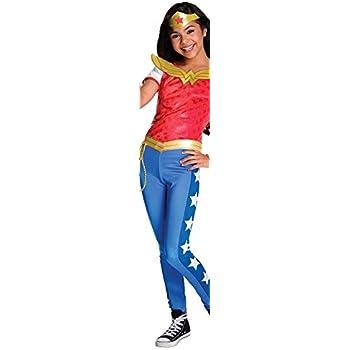 Amazon.com: DC Super Hero Girls Wonder Woman Costume Medium ...