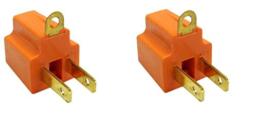 ACLgiants (2Pack) 3 Prong to 2 Prong Grounding Converter for AC Outlet 2 Carat Fine Prong