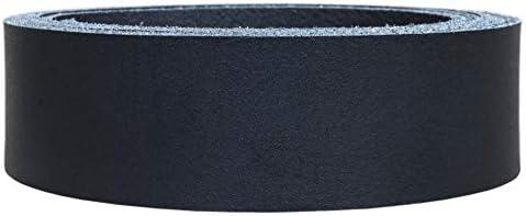 Lederriemen Rindsleder 'Basic', Gürtelleder, Rindleder, Lederband, Farbe:schwarz 2.5mm, Breite:5cm breit