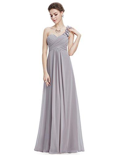 para Mujer Partido Gris 09768 Elegantes Vestido Coctel Vestidos de Ever Fiesta Pretty Gasa Ceremonia de Noche YpWqg