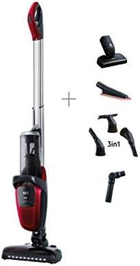 AEG FX9-1-ANIM Aspiradora Escoba Sin Cable 360 Cepillo Mascotas y Suave, 36V de hasta 60 Minutos, 3 Velocidades, Ergonómico, 82dB, Función Parking, Luces Cepillo LED, Depósito 0.7L,Rojo: 382.57: Amazon.es: Hogar